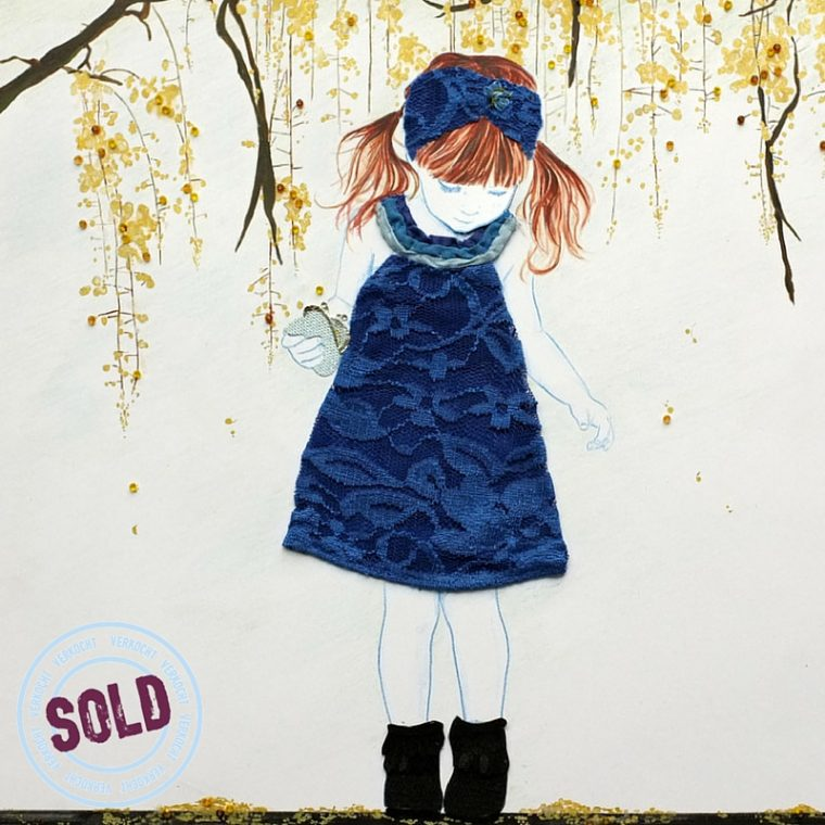 TabithaSluis_Let it rain, all over me_gemengde techniek op papier_ 51 x 51 cm_sold