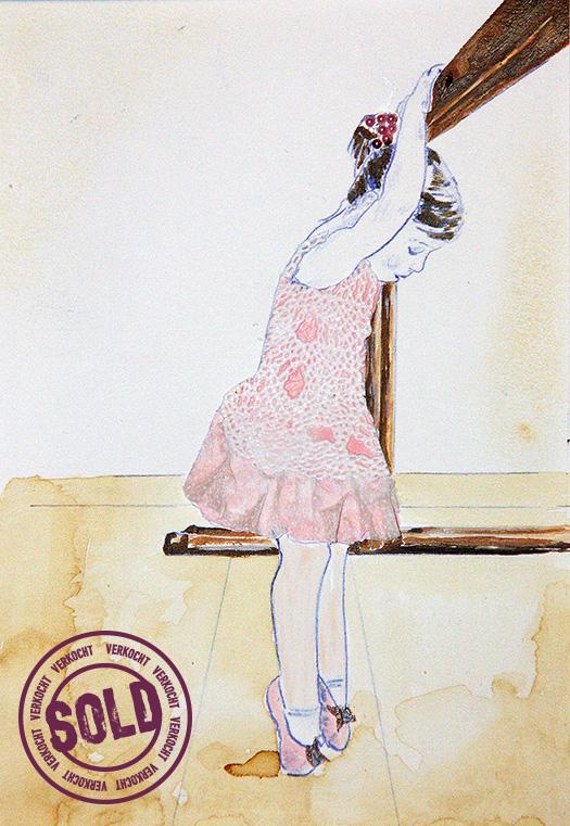 Silent witness| 2012 Gemengde techniek op papier 24 x 18 cm
